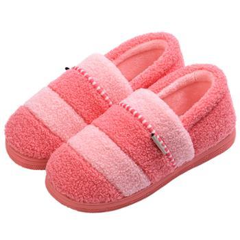 安尚芬冬季棉鞋厚底室内防滑保暖居家用情侣拖鞋