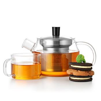 尚明玻璃茶具套装整套功夫红茶花茶壶加厚耐热过滤玻璃泡茶壶器