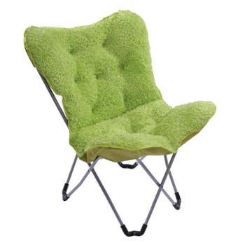 蓝奇尔创意折叠椅蝴蝶布艺懒人沙发椅时尚单人休闲椅大号单人沙发椅