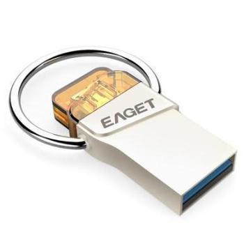 忆捷(EAGET)V66手机U盘16G/32G/64G Micro USB 和 USB3.0双接口金属防水迷你OTG电脑通用读130M/s