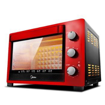 Midea/美的 红色多功能家用电烤箱 烘焙32L T3-321C