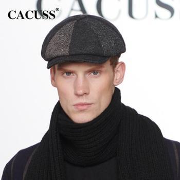 Cacuss 冬季中老年帽子男保暖羊毛帽子