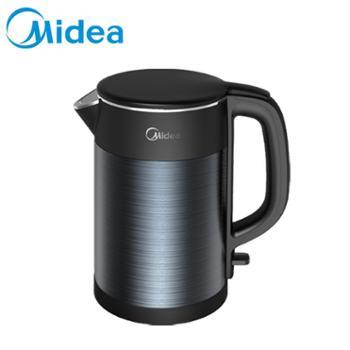 Midea/美的 电热水壶无缝内胆温控1.5L不锈钢304双层HJ1511A