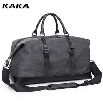 KAKA旅行包男士时尚潮流个性手提包大容量短途出差旅游单肩斜挎行李袋