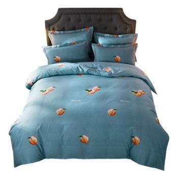 仟梵依纯棉加厚磨毛床上四件套 秋冬季全棉被套床单保暖床上用品4件套