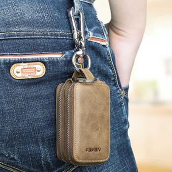 车钥匙包男士多功能真皮大容量家用锁匙包汽车匙钥包通用钥匙套