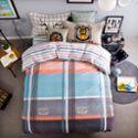 浪漫故事 新品 全棉半活性 印花斜纹棉 床上用品 四件套 定位枕套 条纹