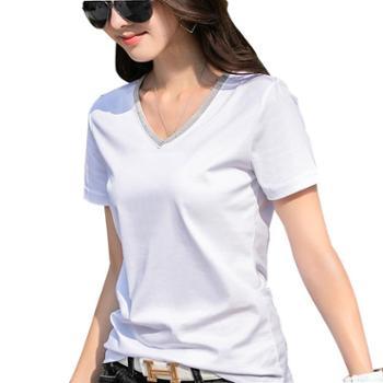 KEQI80支丝光棉链条T恤8895