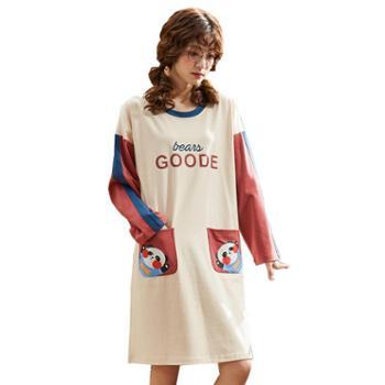 馨霓雅针织棉女款卡通睡裙系列