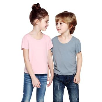 触棉2件装儿童随心裁无痕弹力T恤C0121