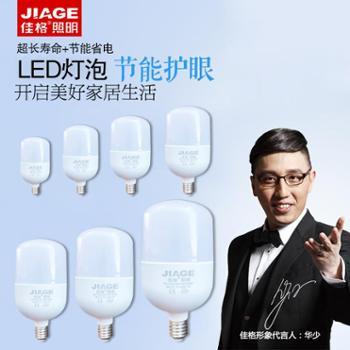 佳格LED灯节能省电家用螺旋螺口LED灯泡23w28w40w50w100w超高亮度高头泡高乐高系列