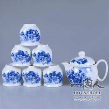 7头花好月圆茶具