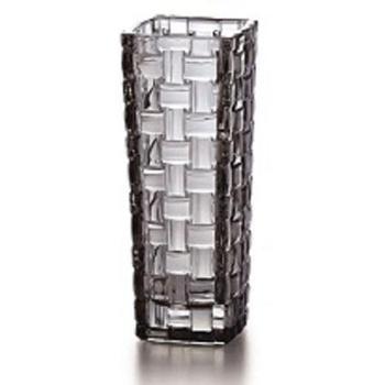 克芮思托巴塞罗彩饰玻璃花瓶15.5cm家用办公彩色台面小花瓶颜色随机