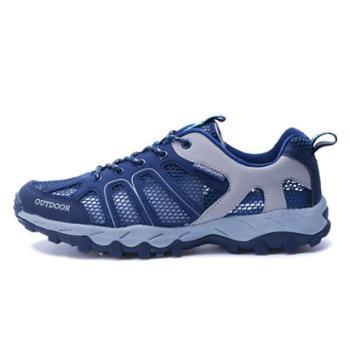 雷宾迪夏季溯溪鞋登山鞋户外女徒步鞋透气户外鞋登山运动鞋男6110
