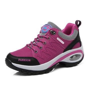 雷宾迪新款运动登山女鞋防滑耐磨旅游徒步鞋休闲增高户外鞋103