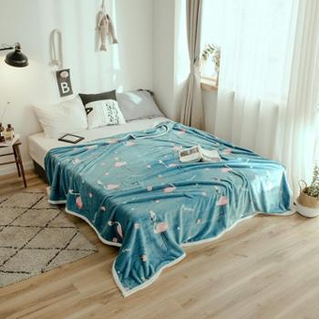 木辛梓云貂绒毛毯180*200CM毯子1.8米床上用品春秋冬天毯盖毯单人床单空调毯