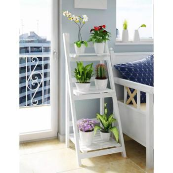 潮土简约创意三层置物架家居置物架阳台阶梯花架落地