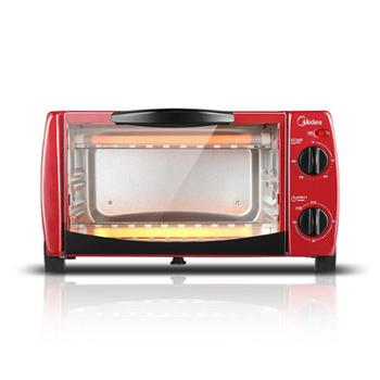 美的(Midea)T1-102D家用多功能迷你小烤箱10升家用容量双层烤位