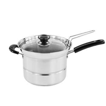 创生厨霸套装 六件套【买一送五】型号:CS-085蒸煮炸锅奶锅汤锅不锈钢锅面条锅