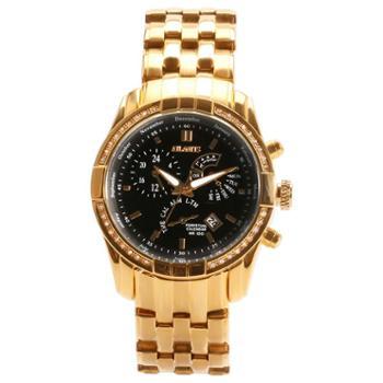 卡芬妮 镶钻金色欧式男士腕表 时尚休闲防水石英表