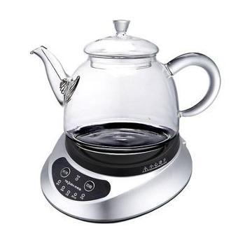 特莱雅微电脑玻璃养生花茶壶 全自动加厚玻璃 多功能家用电煮茶器ZK-HC90办公室加热底座煮黑白茶煮茶器 900ML壶赠四个杯子