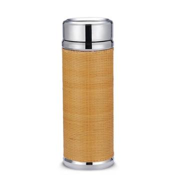 福恒金 竹编银杯【2款可选】足银990标重 银内胆 约60g茶水杯保温杯