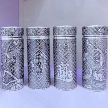 福恒金 足银*杯【大小8款图案可选】 内外全银水杯 保温杯银泡茶杯礼品杯