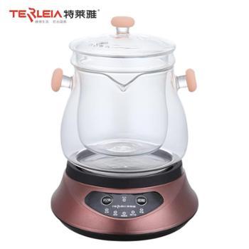 特莱雅 养生壶 多功能加厚玻璃隔水炖 电炖锅【3款色可选】 煮粥煲汤 1.6L