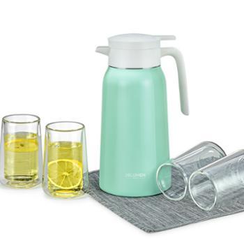 德鲁曼 保温壶 热水壶+玻璃杯套装 五件套DCT-1905G