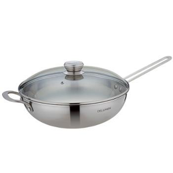 德鲁曼 宙斯盾级复合钢炒锅DL-30健康炒菜锅 煎锅 30cm
