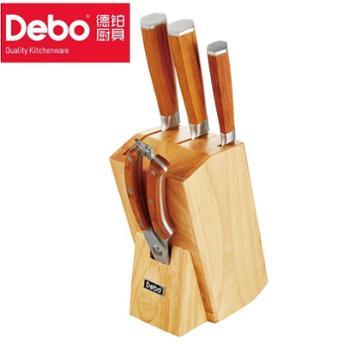 德铂赫斯特不锈钢刀具套装 多用刀具5件套 厨房套刀