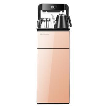 荣事达 饮水机家用立式下置水桶冷热小型全自动桶装水双门茶吧机