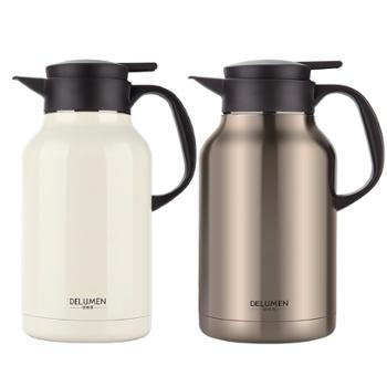 德鲁曼 双层真空保温壶 开水瓶高档家用热水壶大容量2.2L不锈钢暖瓶【2色可选】