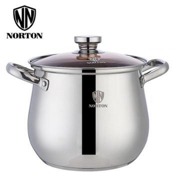 诺顿 3TMET022 米尔图_深汤锅 22cm不锈钢加厚煲汤锅 复底 燃气炉电磁炉通用