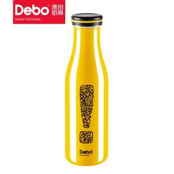德铂 弗里创意时尚304不锈钢水杯杯子男女款牛奶杯黄色