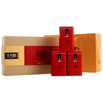 三秦谷府 黑苦荞茶红礼盒装420克