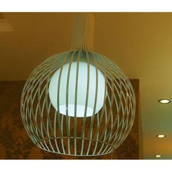 loft复古现代创意艺术铁艺工业吊灯 餐厅酒吧吧台创意鸟笼吊灯