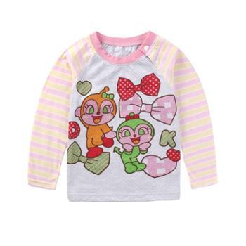 厂家直销 精品女童长袖t恤 面料是特殊工艺的纯棉空气层 面料 透气 舒适