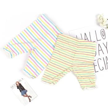 儿童夏季薄款打底裤女童下装宝宝棉质条纹可爱短裤中小童五分裤
