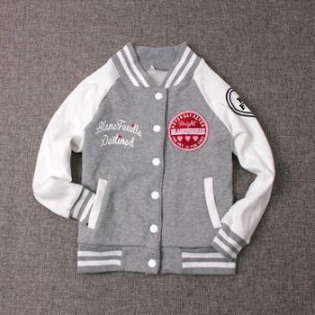 棒球服男女大童秋冬季韩版学生加绒外套夹克日系外贸童装*新品