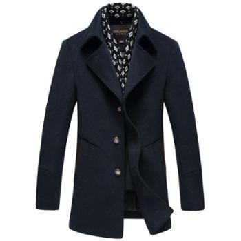 中长款英伦羊毛大衣男潮冬装青年毛呢风衣男士呢子外套