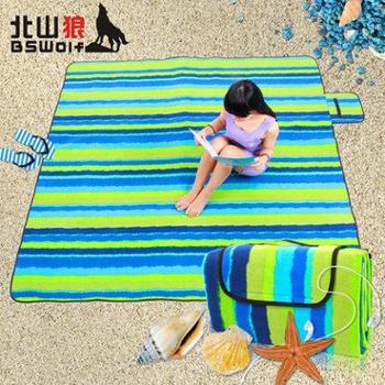 北山狼防潮垫野餐垫加宽加厚郊外春游草地垫沙滩坐垫户外垫子地毯