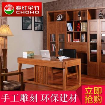 现代简约电脑桌家用台式办公桌子书柜抽屉书桌组合特价转角写字台