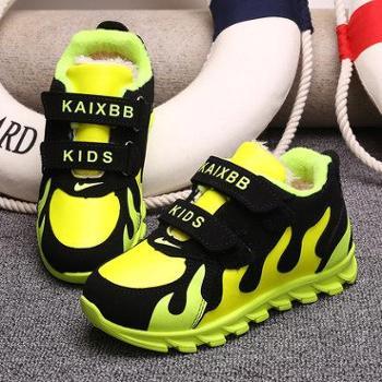 火焰童鞋男童女童鞋2015秋冬新款潮儿童休闲鞋运动鞋宝宝加绒棉鞋
