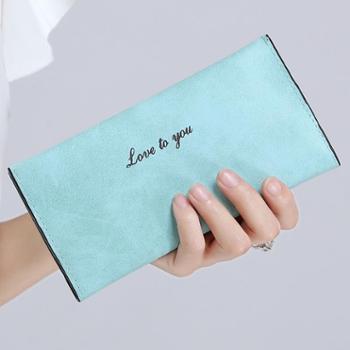 钱包女长款女士钱包韩版超薄款卡包小手拿包2015新款磨砂女式皮夹