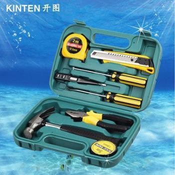 包邮9件套家用工具套装 电工木工维修手动工具组套多功能五金工具箱