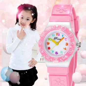儿童手表女孩男孩韩版小学生女童可爱小巧防水小孩少女生石英手表