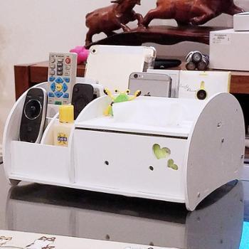 纸巾盒抽纸盒 欧式创意家用客厅简约茶几多功能桌面遥控器收纳架
