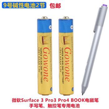 Gowone购旺9号LR61AAAA碱性电池2节无汞环保出口简装电磁笔/触控笔/手写笔电池