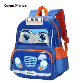 卡拉羊 新款幼儿园小童双肩书包男 卡通学生背包女防水日韩版潮流CX6060